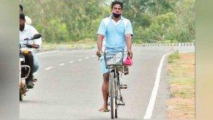 एक्सीडेंट में खो दिया था पैर, अब एक पैर से 10 घंटे में पूरा किया 165 किलोमीटर का सफर