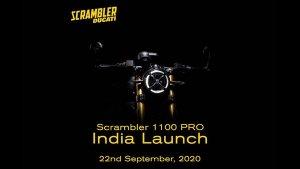 Ducati Scrambler 1100 Pro Launch Date: डुकाटी स्क्रैम्बलर 1100 प्रो की लॉन्च डेट का हुआ खुलासा