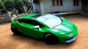 Lamborghini Replica Made From Scrap: कबाड़ से बना दी लेम्बोर्गिनी कार, लगा है बाइक का इंजन