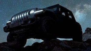 Jeep Wrangler EV SUV Teased: जीप रैंगलर आधारित इलेक्ट्रिक एसयूवी का टीजर हुआ जारी, देखें