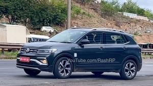 Volkswagen Taigun बिना ढके टेस्टिंग करते आई नजर, जल्द होगी लॉन्च