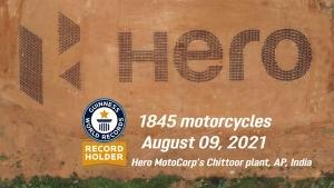 हीरो मोटोकाॅर्प ने बनाया दुनिया का सबसे बड़ा लोगो, गिनीज वर्ल्ड रिकाॅर्ड में दर्ज किया नाम