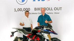 TVS Motor ने BMW Motorrad की 310cc सीरीज की 1 लाख बाइक्स का किया उत्पादन, जानें