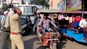 नो-एंट्री में रिक्शा चलाना पड़ा महंगा